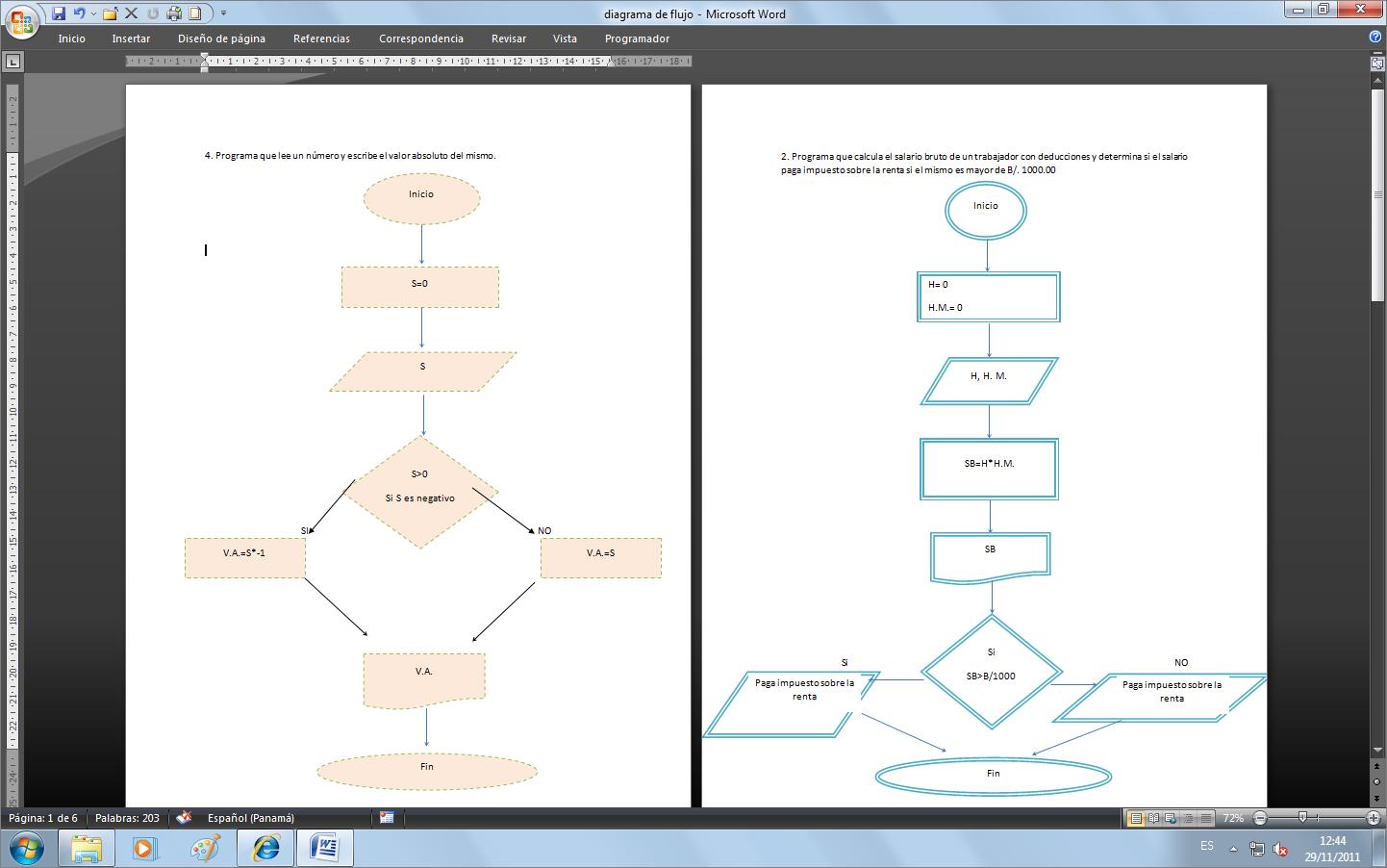 Ejemplos de diagramas de flujo y pseudocodigos programaciontasus anuncios ccuart Image collections